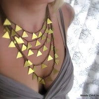 ARROWBronze Cascading Chain and Triangle Necklace by BlondeChick