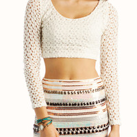 crochet-cropped-top IVORY MAUVE - GoJane.com