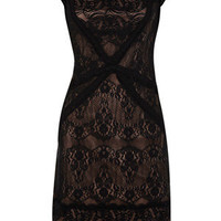 Oasis Shop | Multi Black Contrast Lace Dress | Womens Fashion Clothing | Oasis Stores UK