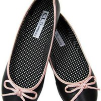 CL By Laundry Get Down Hudson Black Vegan Flat