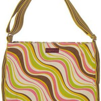 Bungalow360 Swirl Vegan Zip Messenger Bag