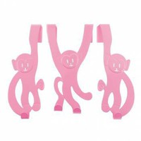 Monkey Door Hangers, Pink - Gifts For Children from the gifted penguin UK