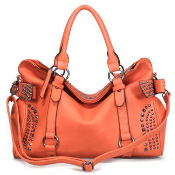 120885 Cuffu Online Close-Out High Quality Women/Girl Fashion Designer Work School Office Lady Student Handbag Shoulder Bag Purse Totes Satchel Clutches Hobos (orange)