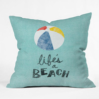 DENY Designs Home Accessories | Nick Nelson Lifes A Beach Throw Pillow