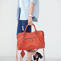 Giant Medium MOTOR Bag - Handbag/Leather Handbag/Tote bags/Shoulder Bags/Motor Bags/Leather Tote - Premium SheepSkin.