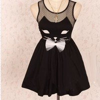 Cat Dress *free shipping* by Three Letter Word