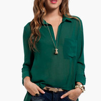 Evie Pocket Blouse $30