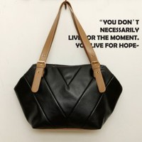 Leisure Lock Strape Black Leather Handbags  : Wholesaleclothing4u.com
