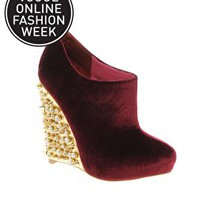 ASOS TIGER Studded Wedge Shoe Boots at asos.com