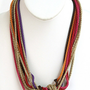 Pink Multi Strand Necklace
