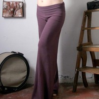 womens lounge pants in french terry with fold over by sandmaiden