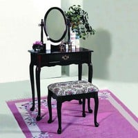 Cherry Vanity Set by Crown Mark