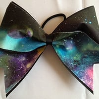 Outer Space  Cheer Bow Hair Bow Cheerleading