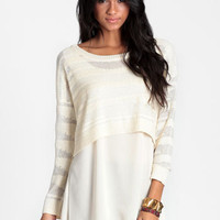 Still Waiting Layered Sweater - $55.00 : ThreadSence, Women's Indie & Bohemian Clothing, Dresses, & Accessories