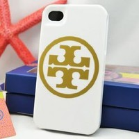 Amazon.com: Tory Burch iPhone 4 S Case Full Protection -Logo White: Cell Phones & Accessories