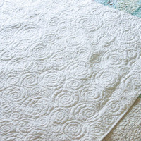Quilt - baby quilt,  crib quilt, throw or accent quilt - snow squall - Made to Order