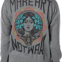 Obey Make Art Not War Heather Grey Hoodie at Zumiez : PDP