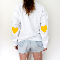 Elbow Heart Sweatshirt - Yellow