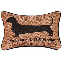 Amazon.com: It&#x27;s Been a Long Day Dachshund Throw Pillow - Cute Accent for Home - US Made: Home &amp; Kitchen