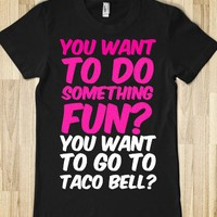 Mean Girls- Taco Bell-Female Black T-Shirt