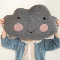 Knit Cloud Pillow :) GRAY