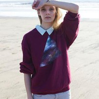 Hand painted Galaxy triangle Jumper from We Are Hairy People