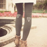 Hand painted Gem Winter Leggings from We Are Hairy People