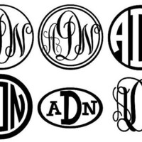 "4"" Vinyl Monogram Sticker"