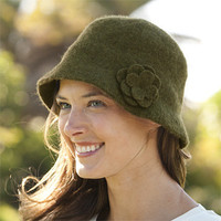 Wool Felt Cloche Hat / Barbour Felted Wool Cloche -- Orvis