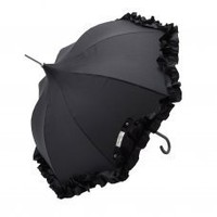 Lisbeth Dahl Black Frill Golf Umbrella [UM00011] - 22.99 :  Mollie & Fred