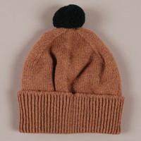YMC Bobble Hat - Green/Camel