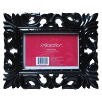 Xhilaration Chunky &amp; Ornate Baroque Picture Frame - Black (4x6&quot;)