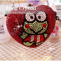 Bling Bling Style Party Bag With Keroppi by BlingCrystalShop