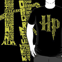 """Harry Potter A-Z Alphabet"" T-Shirts & Hoodies by rorylando45 