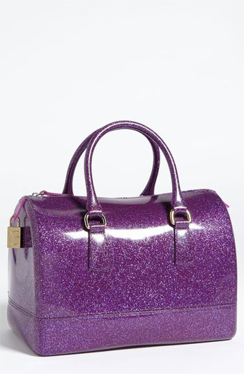 Furla &#x27;Candy Glitter&#x27; Rubber Satchel | Nordstrom