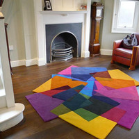 Colorful Carpet + Abstract Art = Geometric Home Area Rugs | Designs & Ideas on Dornob