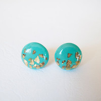 Tiffany Stud Earrings - Polymer Clay and Resin Jewelry