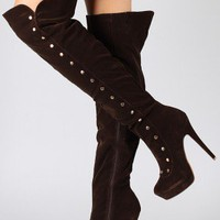 Liliana Aldo-4 Studded Thigh High Boot