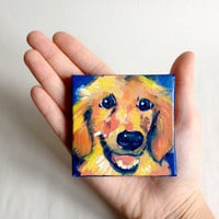 Custom Pet Portrait on Mini Canvas with Easel