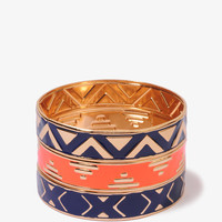 Zigzag Patterned Bangle Set