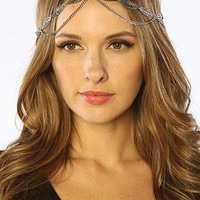 The Flower Power Head Piece in Silver