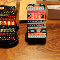 Native American Bundle / Tribal Aztec / Indian Pattern / Apple Iphone 4 4s Case