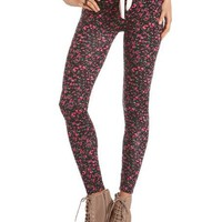Ditsy Floral Cotton Spandex Legging: Charlotte Russe