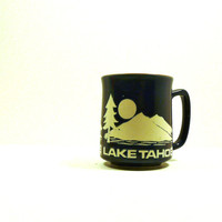 lake tahoe vintage mug, travel mug, winter, mountains, ski lodge, rustic, americana, vintage kitchen, mugs, pacific northwest
