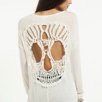 Behind Me Skull Top $30