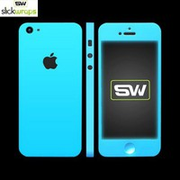Save on Free Shipping w/ the Original SlickWraps Apple iPhone 5 Protective Skin - Glow in the Dark Blue in US AccessoryGeeks