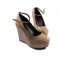 Latest Apricot OL Temperament Ladies Wedges : Wholesaleclothing4u.com