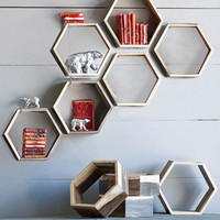 Eco Honeycomb Wall Shelves