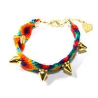 Studded Rainbow Friendship Bracelet | VidaKush