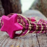 Shooting Star Hemp Bracelet Fishbone Knot Jewelry Macrame